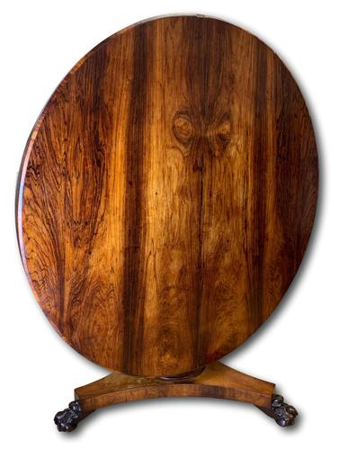 19th Century Rosewood Round Centre Table (1 of 8)