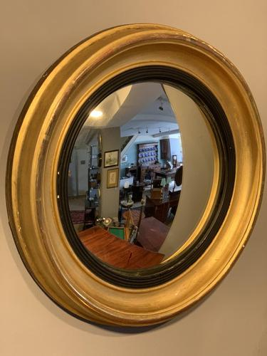 Small Antique Convex Mirror (1 of 5)