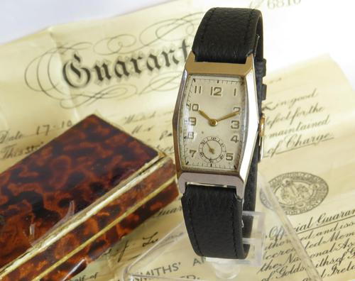 1940s Mid-size Wrist Watch, Box & Papers (1 of 4)
