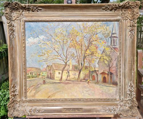 Carved Framed Oil on Canvas (1 of 9)