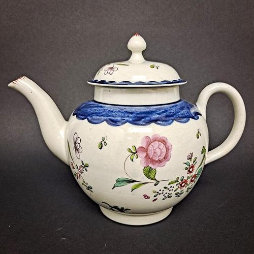 18th Century Liverpool Tea Pot (1 of 6)