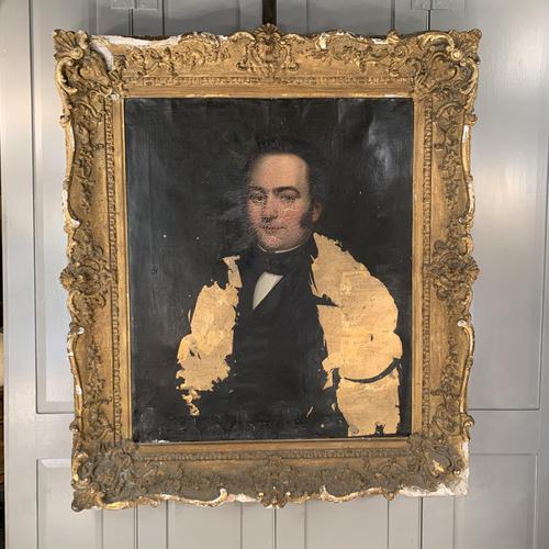 Antique large Georgian oil painting portrait of a gentleman Stanley Jones of Broadgate, Ludlow (1 of 13)
