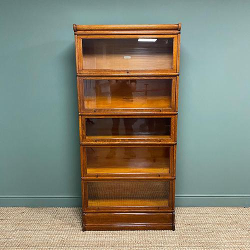 Tall Golden Oak Globe Wernicke Stacking Barristers Bookcase (1 of 7)