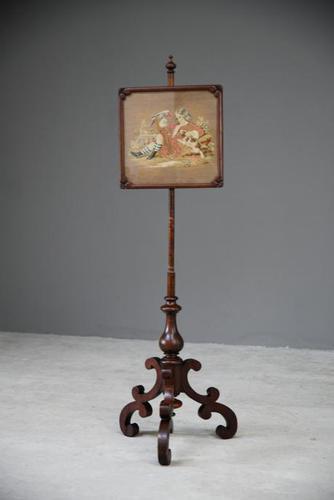Victorian Mahogany Pole Screen (1 of 12)