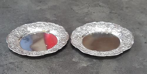 Pair of S Kirk & Son American Sterling Silver Butter Pats (1 of 4)
