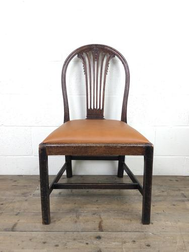 Georgian Chair with Drop-in Leather Seat (1 of 13)
