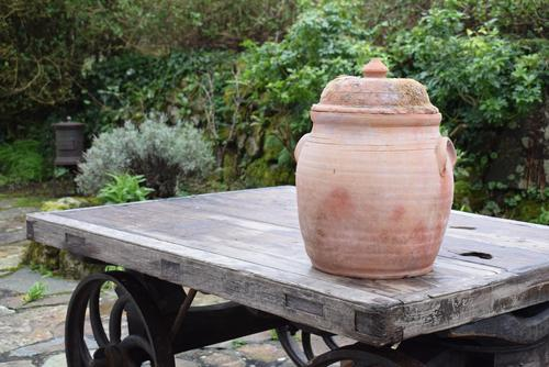 Large Earthenware Lidded Storage Jar (1 of 10)