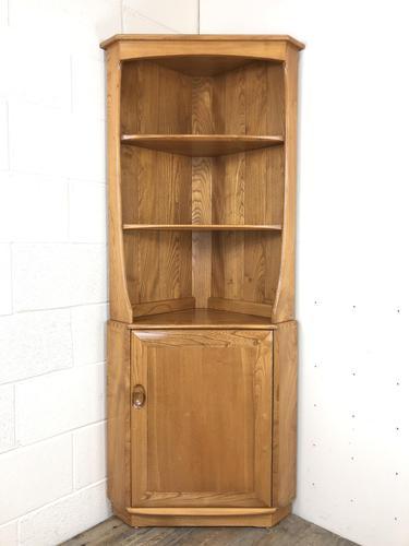 Vintage Elm Ercol Corner Cupboard (1 of 9)
