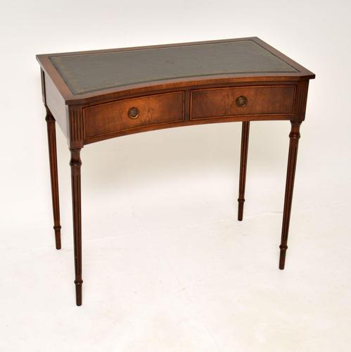 Mahogany Leather Top Writing Table / Desk (1 of 11)