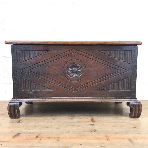 Antique Oak Coal Box or Scuttle (1 of 11)