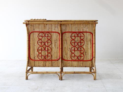 Mid-Century Bamboo Bar attributed to Bonacina (1 of 7)