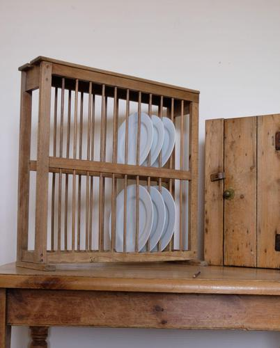 Antique Pine Freestanding Plate Rack (1 of 20)