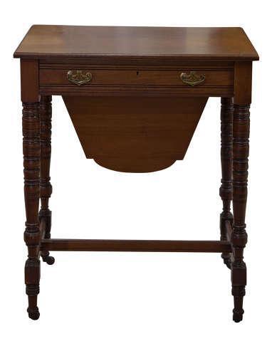 Edwardian Walnut Work Table (1 of 5)