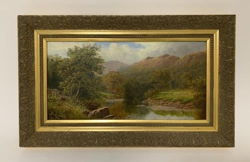 Antique Oil on Canvas of a Countryside Scene (1 of 9)