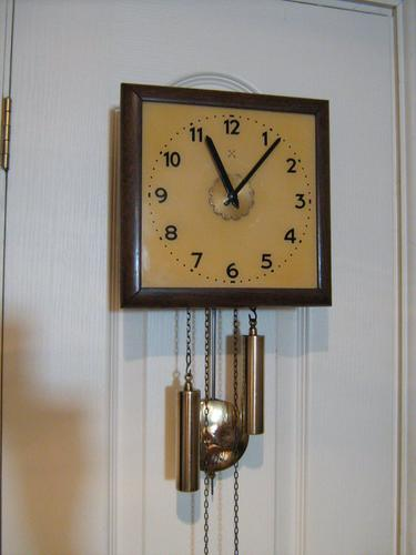 Rare Postman's Alarm Wall Clock by HAC. (1 of 4)