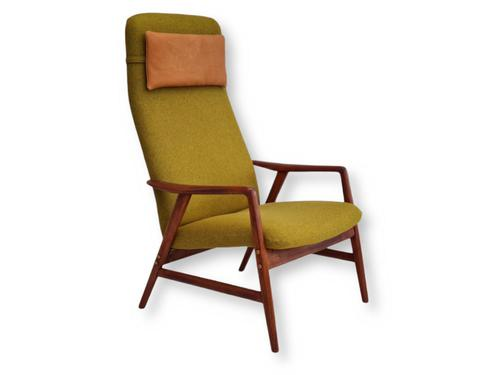 Alf Svensson, 60s, Armchair Model Kontur, Completely Restored, Furniture Wool (1 of 16)