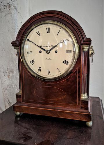 George III Mahogany Fusee Bracket Clock (1 of 6)