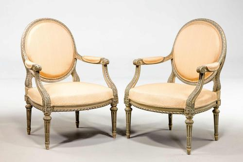 Pair of Louis XVI  Design Armchairs (1 of 7)