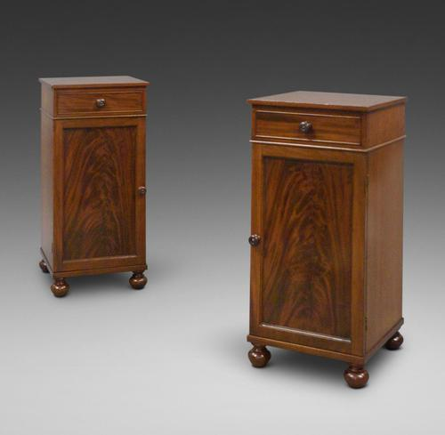 A Pair of Flame Mahogany Bedside Cabinets (1 of 6)