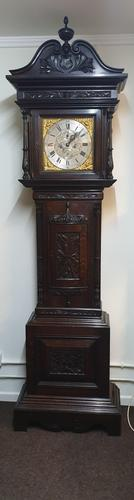 Outstanding Oak Grandfather Clock - William Evans (1 of 13)