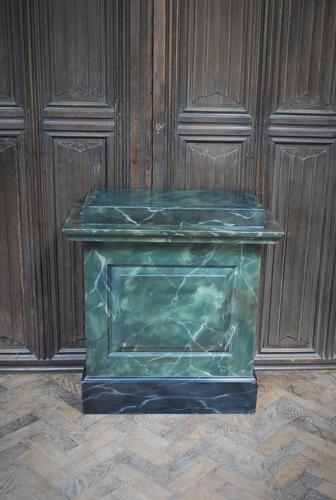 Original Painted Marble Pedestal (1 of 6)