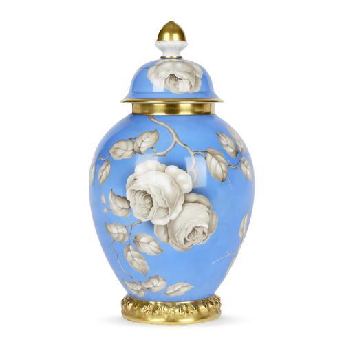 Rosenthal German Porcelain Lidded Jar & Cover with En Grisaille Roses Decoration c.1935 (1 of 15)
