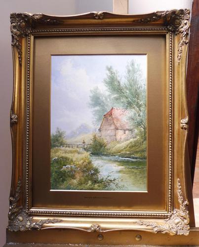 Watercolour Bates Brook Redhill Listed Artist H Rawson (1 of 12)
