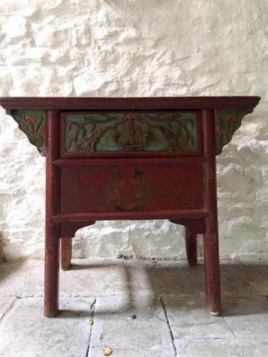 Chinese Altar Table, Painted with Fish & Fauna (1 of 12)