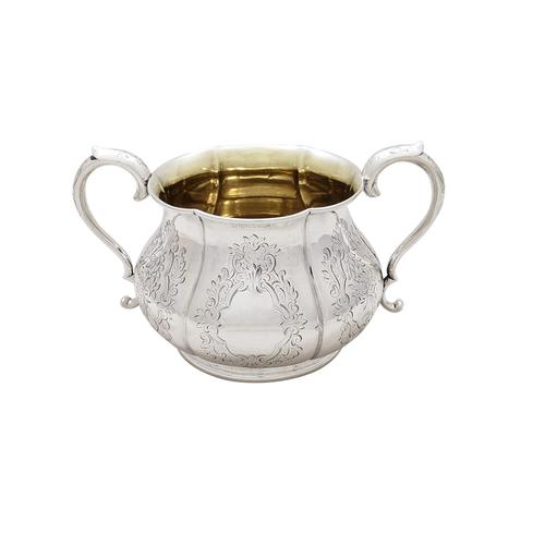 Antique Early Victorian Sterling Silver Sugar Bowl 1843 (1 of 10)
