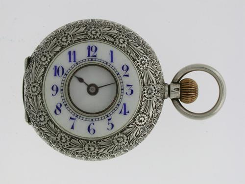 Silver Waltman Swiss Half Hunter  Pocket Watch 1900 (1 of 7)