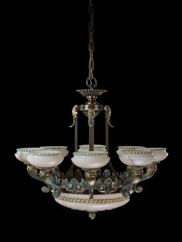 Early 20th Century Eight Arm Chandelier (1 of 6)
