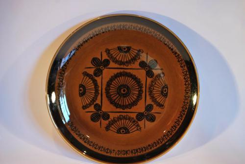 Mid Century Norwegian Pottery Plate - Stavangerflint Sera - Design Inger Waage (1 of 4)