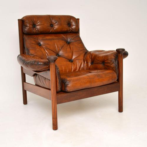 1960's Vintage Guy Rogers Leather Armchair (1 of 9)