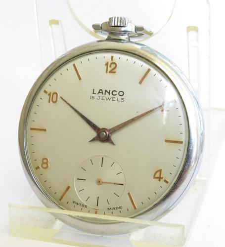 1940s Lanco Pocket Watch (1 of 4)