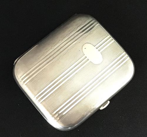 Art Deco Silver Cigarette / Card Case (1 of 4)