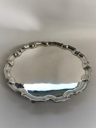 Large Silver Plated Salver (1 of 4)