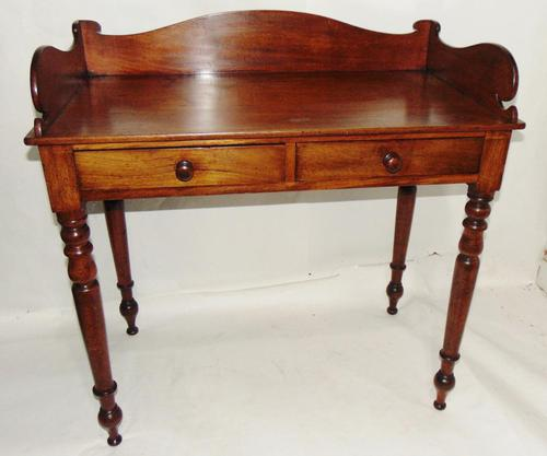 Georgian Mahogany Galleried Side Table (1 of 8)