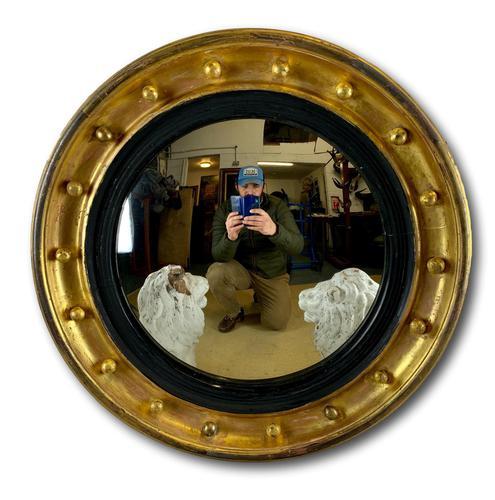 Regency Convex Gilt Mirror (1 of 6)