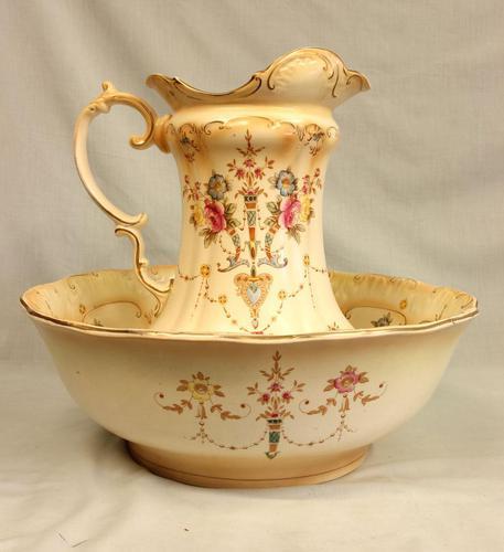 Antique Crown Devon Jug & Bowl Set (1 of 15)