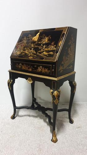 Outstanding Chinoiserie / Laquered Bureau (1 of 15)