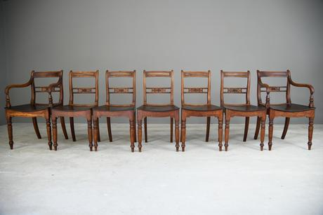 7 Antique Fruitwood Kitchen Chairs (1 of 9)