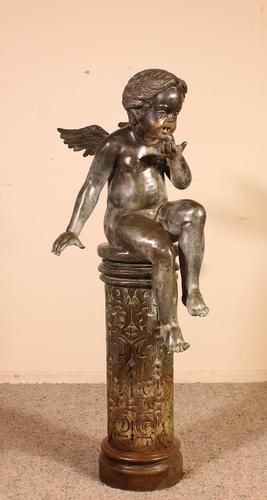 Bronze representing an Angle Sitting on a Column (1 of 14)