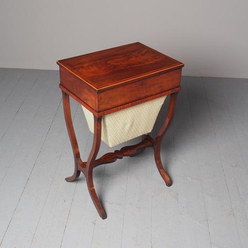 Unusual Biedermeier Inlaid Mahogany Work Box or Table (1 of 10)
