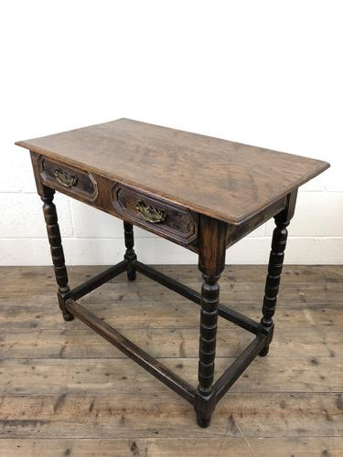 Antique Oak Side Table with Geometric Drawers (1 of 10)