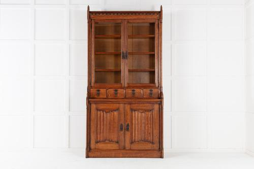 19th Century Solid Oak Bookcase (1 of 11)