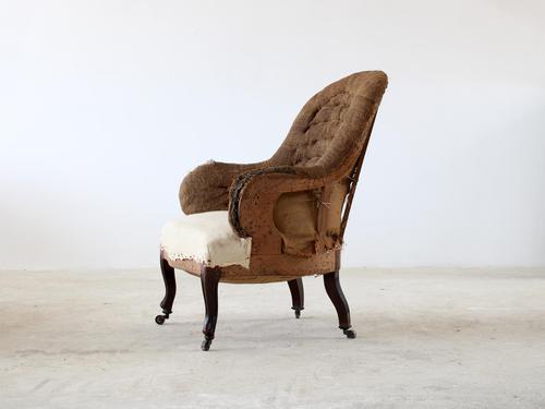 Unusually Shaped Napoleon III Armchair (1 of 5)