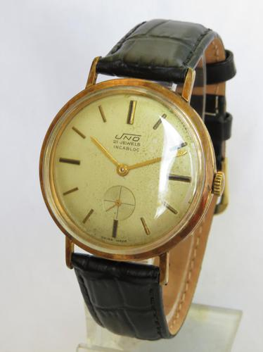 Gents 1960s Uno Wrist Watch (1 of 4)