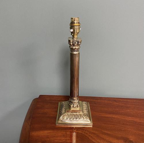 Super Antique Brass Corinthian Column Lamp Base (1 of 4)