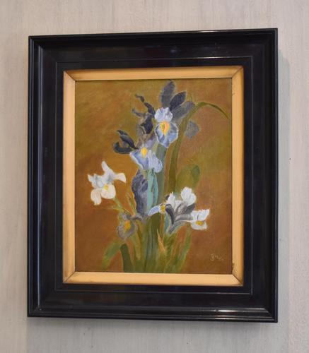 Still Life Oil Painting of Irises (1 of 6)