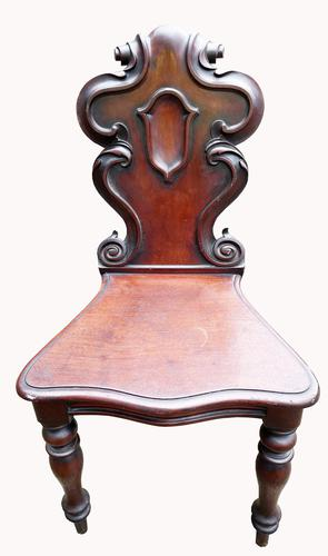 Victorian Mahogany Hall Chair (1 of 6)
